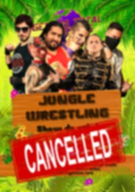 Affiche Jungle Wrestling 2020 cancelled