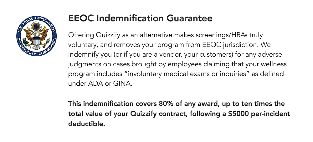 Quizzify EEOC Indemnification