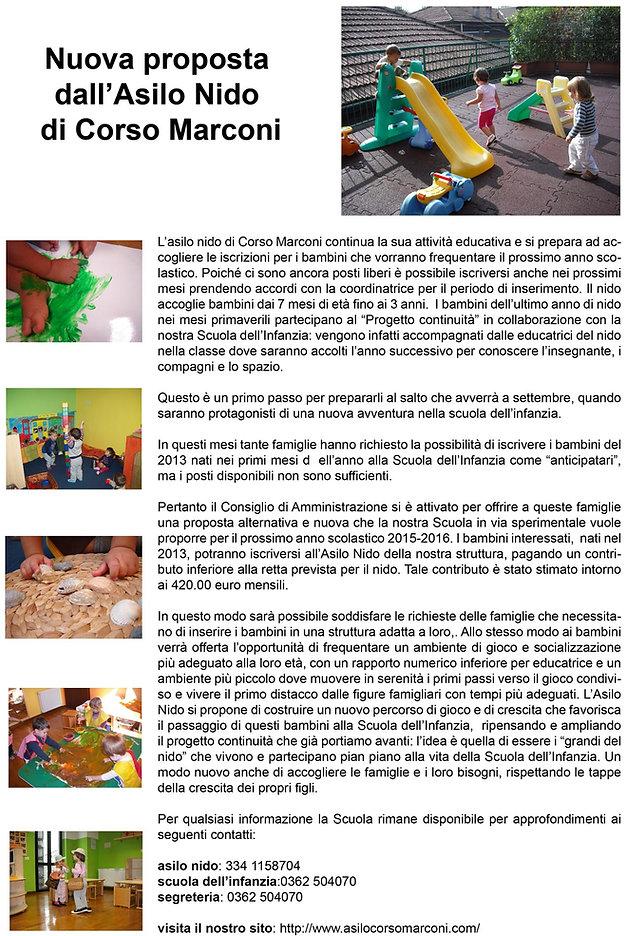 asilo scuola per infanzia corso marconi seveso