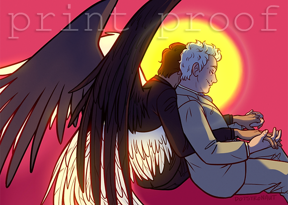 Good Omens Inspired Artwork - DOTS