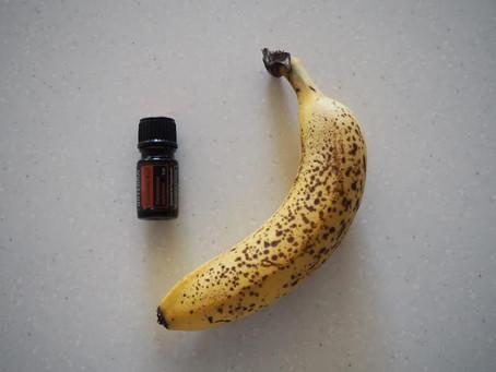 バナナシェイクとシナモン