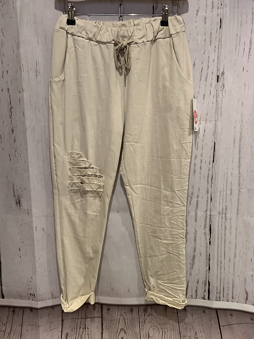 Sparkle ripped plus size magic trouser