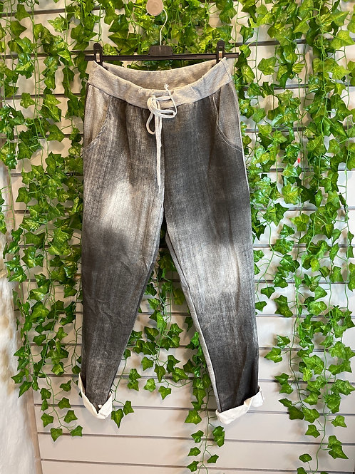 Washed black joggers