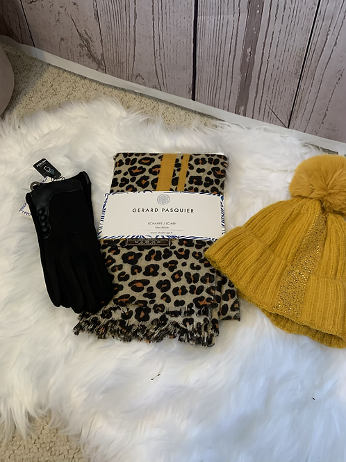 Mustard scarf set