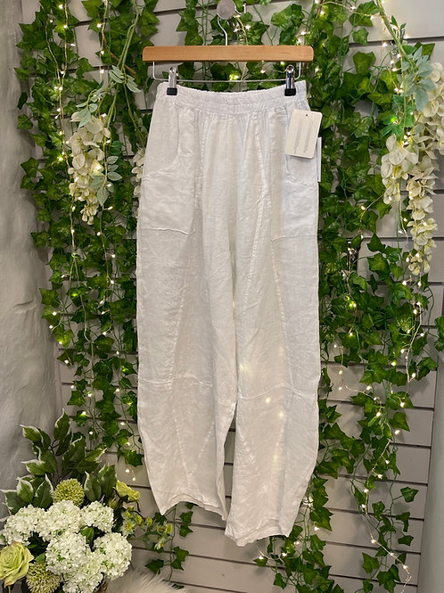 White tempered trousers