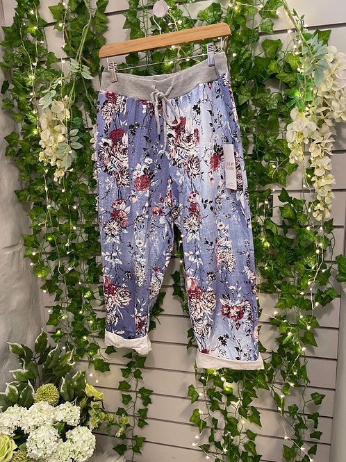 Plus size flower joggers