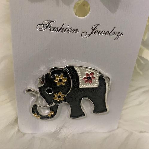 Elephant magnetic brooch