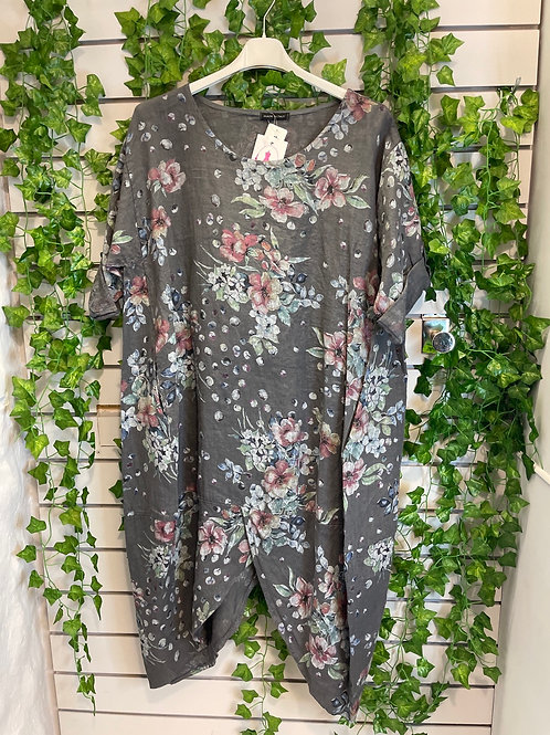 Plus size flower tunic/dress