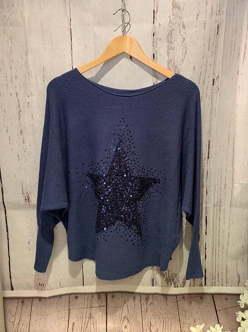 Sequin star jumper