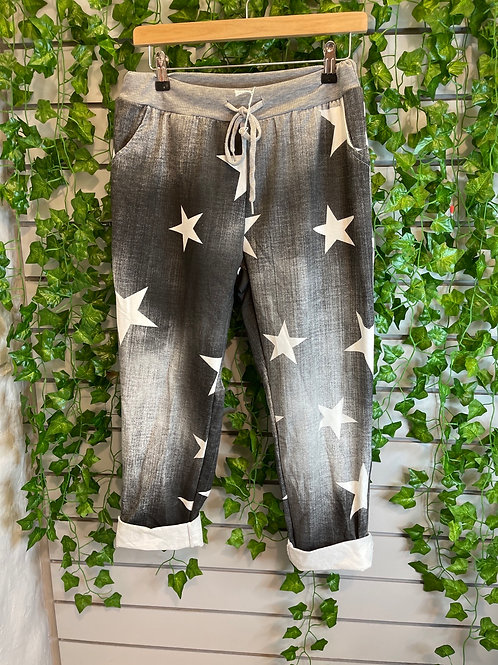 Star Washed black joggers