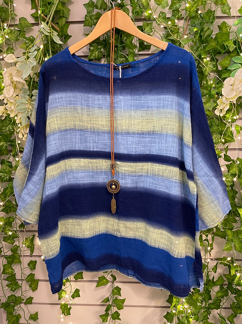 Blue stripped linen