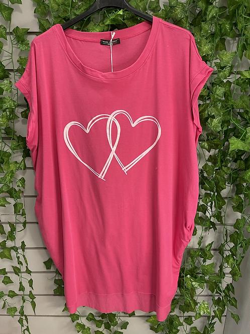 Heart t-shirt pink