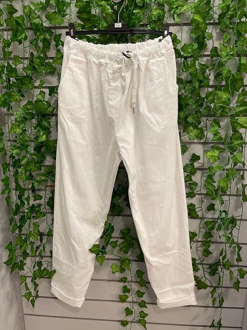White magic trousers  plus plus