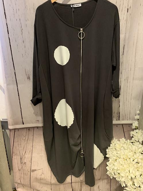 Circle zip dress
