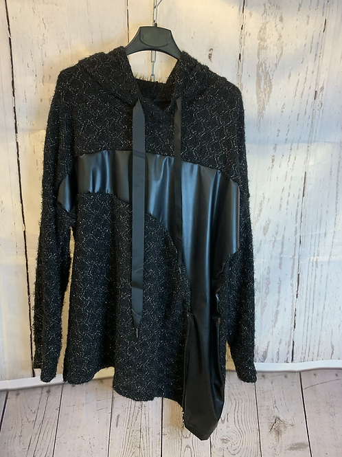 Sparkle hooded jumper with zip