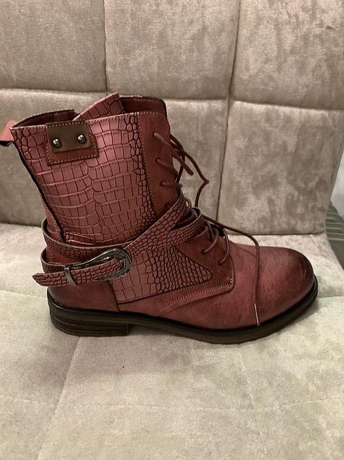 Pink croc boots