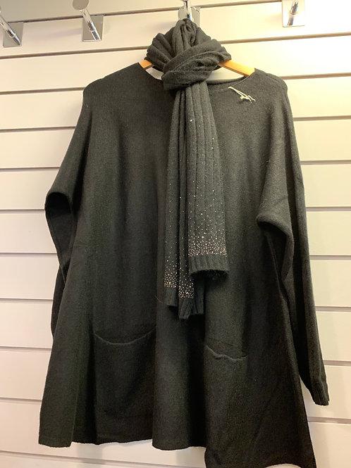 2 pocket sparkle scarf