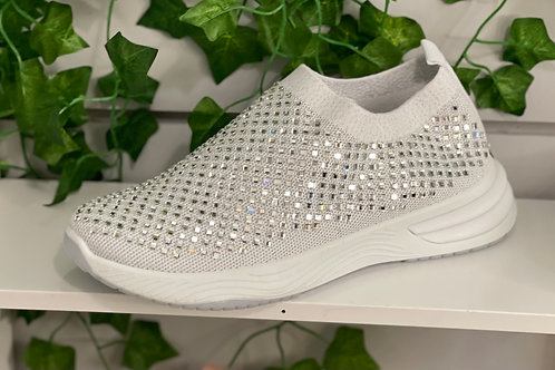White sparkle trainers