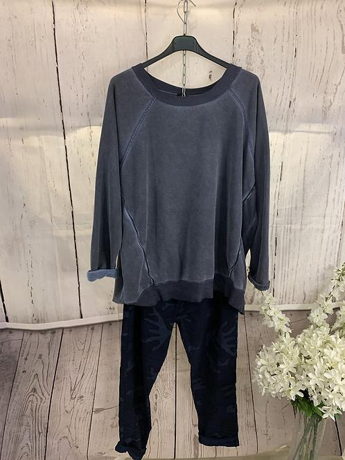 fleece lined zip jumper