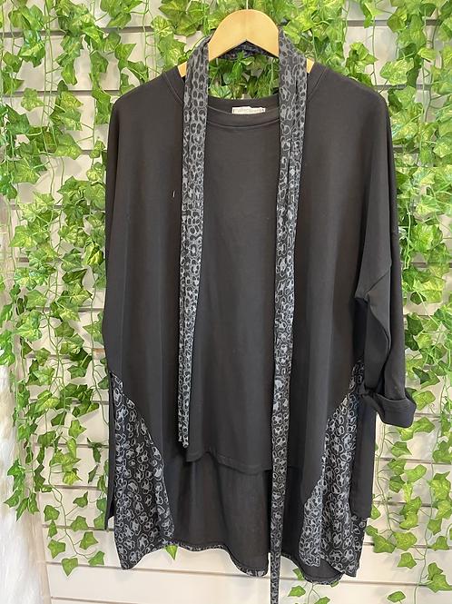 Leopard print sweat shirt top