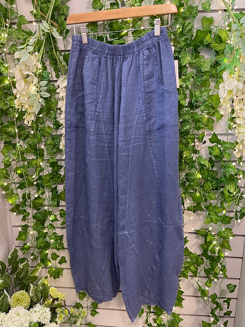 Denim tempered trousers