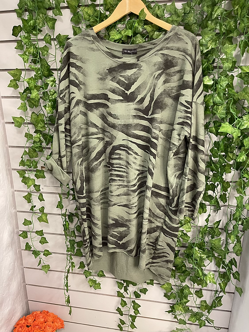High low zebra tunic