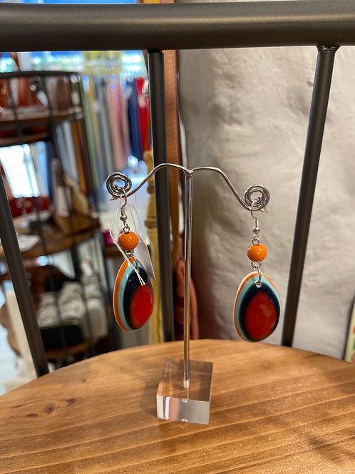 Coloured  circle earring