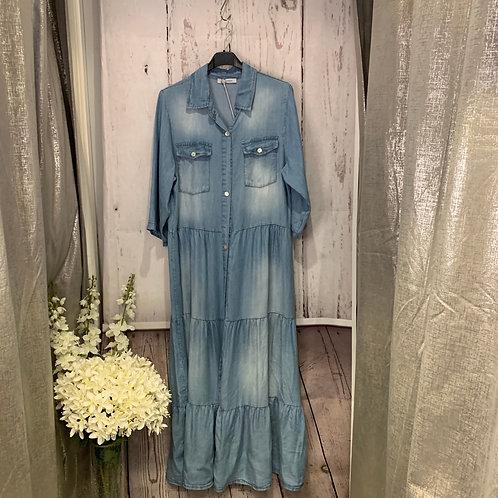 long demin dress
