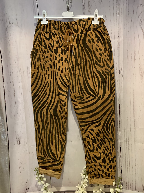 Animal print magic trousers