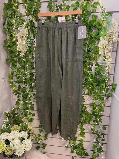 Khaki tempered trousers