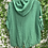 Thumbnail: Linen hooded jacket green