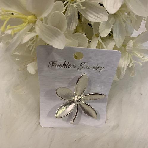 Silver rainbowflower brooch