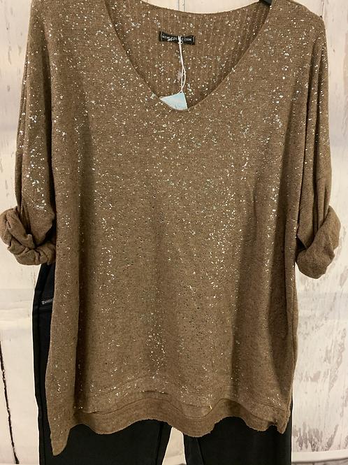 Sparkle fluffy knit