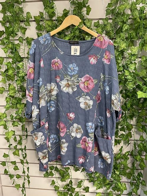 2 pocket flower top