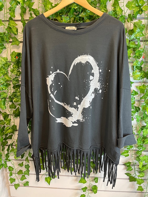 Tassel heart top