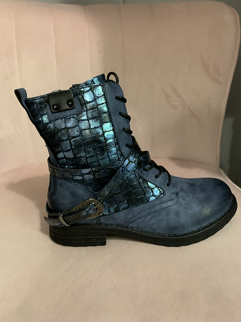 Blue croc boots