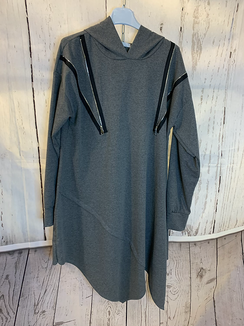 Shoulder zip tunic