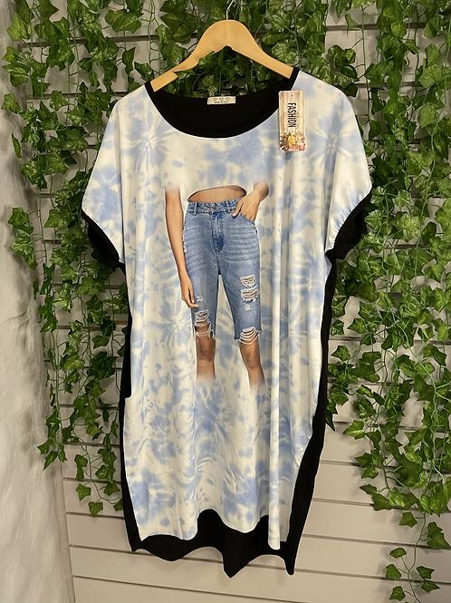 Lady jeans t shirt