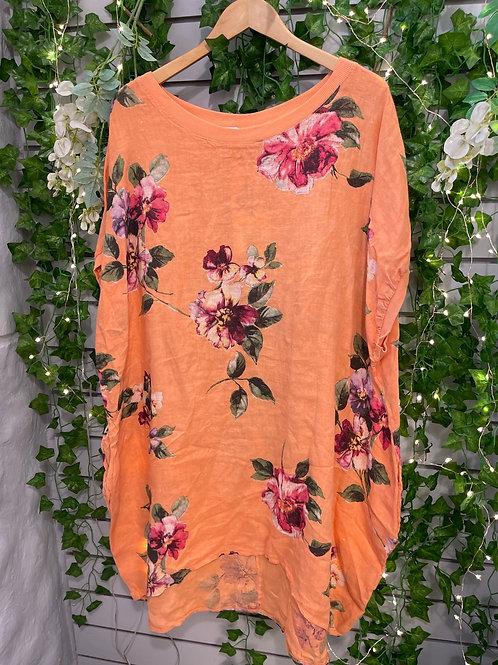 Flower tunic apricot
