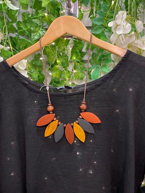 Autumnal leaf necklace