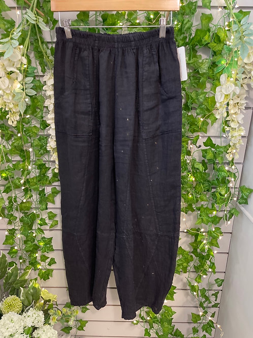 Navy tempered trousers
