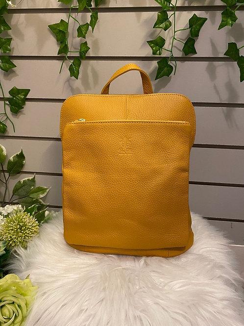 Leather rucksack
