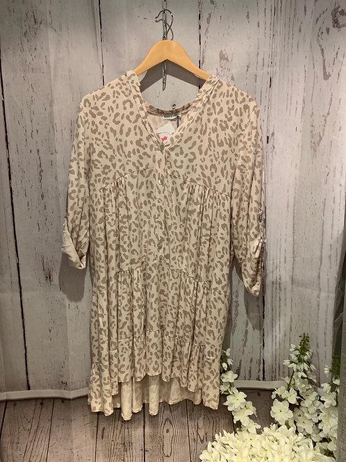 Leopard print fan shirt