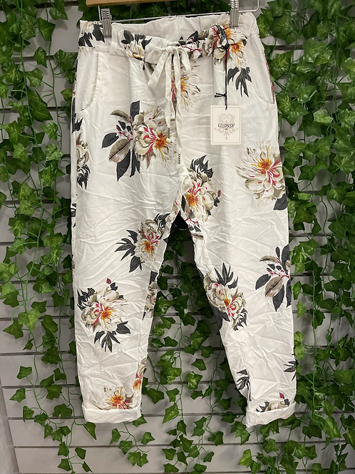 Floral magic trouser