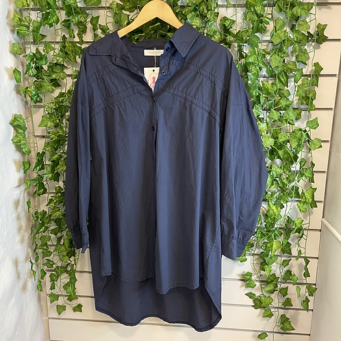 Navy tassel shirt