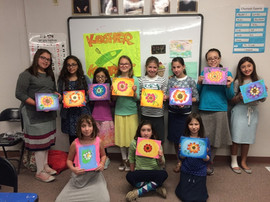 Painting Party for Girls Class at Phoenix Cheder