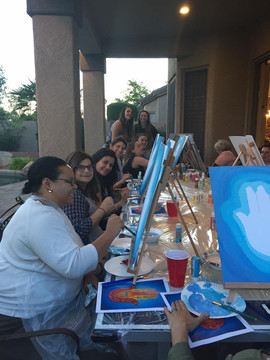 Painting Party for Women's Group from Scottsdale Shul