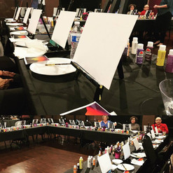 Painting Party for Smile on Seniors