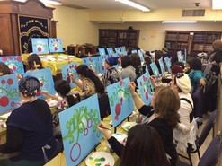 Painting Party for Women's Group at Phoenix Shul