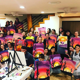 Painting Party for Heritage Retreat in Sedona